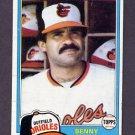 1981 Topps Baseball #101 Benny Ayala - Baltimore Orioles G