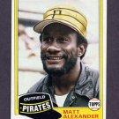 1981 Topps Baseball #068 Matt Alexander - Pittsburgh Pirates NM-M
