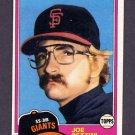 1981 Topps Baseball #062 Joe Pettini RC - San Francisco Giants NM-M