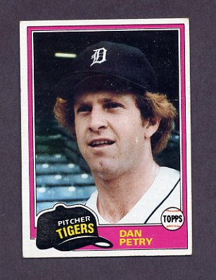 1981 Topps Baseball #059 Dan Petry - Detroit Tigers