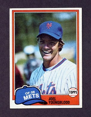 1981 Topps Baseball #058 Joel Youngblood - New York Mets Ex