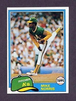 1981 Topps Baseball #055 Mike Norris - Oakland A's