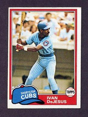 1981 Topps Baseball #054 Ivan DeJesus - Chicago Cubs