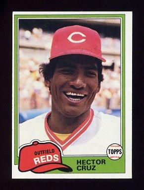 1981 Topps Baseball #052 Hector Cruz - Cincinnati Reds