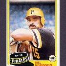 1981 Topps Baseball #051 Bill Robinson - Pittsburgh Pirates ExMt
