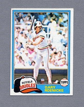 1981 Topps Baseball #037 Gary Roenicke - Baltimore Orioles