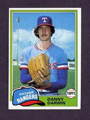 1981 Topps Baseball #022 Danny Darwin - Texas Rangers