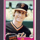1981 Topps Baseball #011 Jim Wohlford - San Francisco Giants ExMt