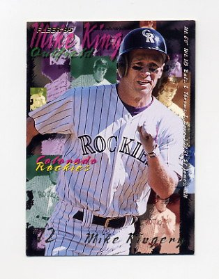 1995 Fleer Baseball #522 Mike Kingery - Colorado Rockies