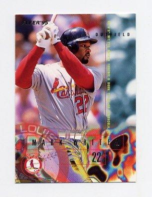 1995 Fleer Baseball #512 Mark Whiten - St. Louis Cardinals
