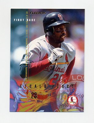 1995 Fleer Baseball #507 Gerald Perry - St. Louis Cardinals
