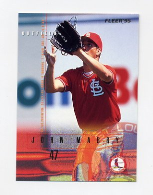 1995 Fleer Baseball #502 John Mabry - St. Louis Cardinals