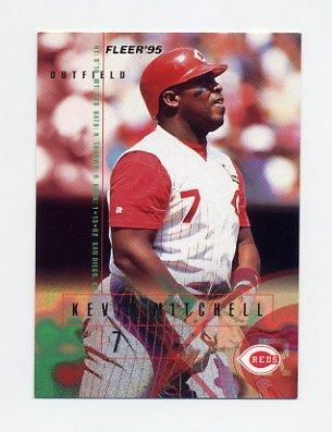1995 Fleer Baseball #441 Kevin Mitchell - Cincinnati Reds
