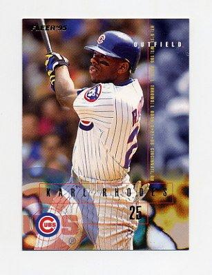 1995 Fleer Baseball #422 Karl Rhodes - Chicago Cubs