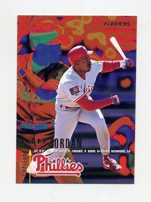 1995 Fleer Baseball #397 Ricky Jordan - Philadelphia Phillies