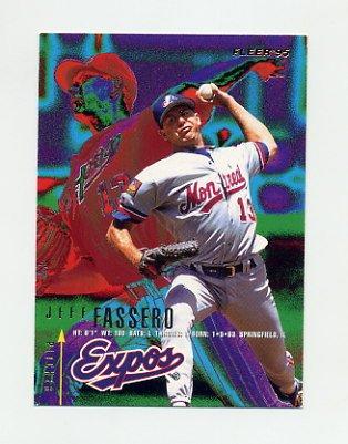 1995 Fleer Baseball #348 Jeff Fassero - Montreal Expos