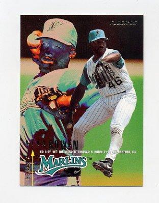 1995 Fleer Baseball #326 Ryan Bowen - Florida Marlins