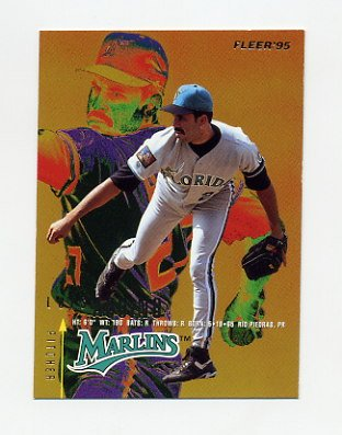 1995 Fleer Baseball #324 Luis Aquino - Florida Marlins