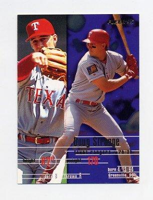 1995 Fleer Baseball #297 Doug Strange - Texas Rangers