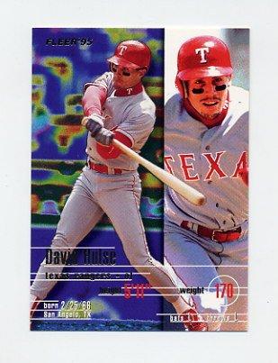 1995 Fleer Baseball #288 David Hulse - Texas Rangers