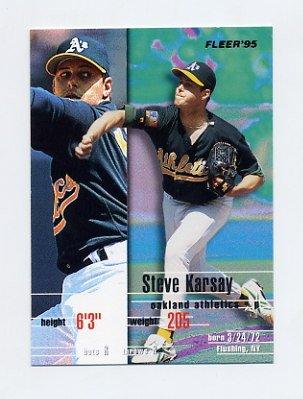 1995 Fleer Baseball #248 Steve Karsay - Oakland A's