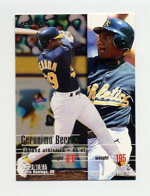 1995 Fleer Baseball #239 Geronimo Berroa - Oakland A's