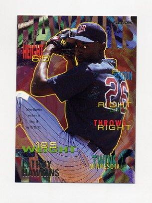 1995 Fleer Baseball #204 LaTroy Hawkins - Minnesota Twins