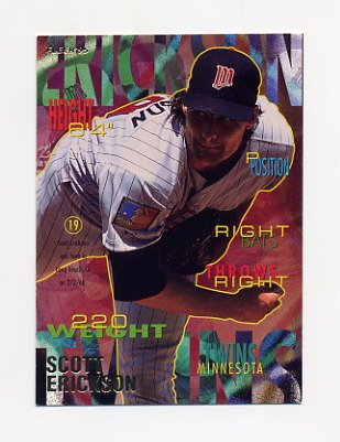 1995 Fleer Baseball #201 Scott Erickson - Minnesota Twins