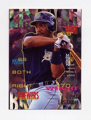 1995 Fleer Baseball #182 Pat Listach - Milwaukee Brewers