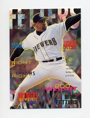 1995 Fleer Baseball #178 Mike Fetters - Milwaukee Brewers