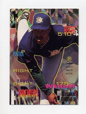 1995 Fleer Baseball #174 Ricky Bones - Milwaukee Brewers
