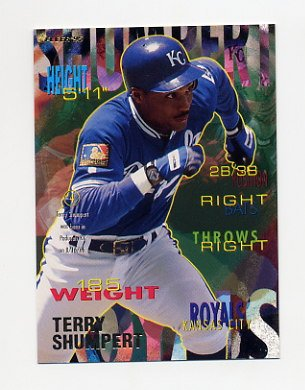 1995 Fleer Baseball #172 Terry Shumpert - Kansas City Royals