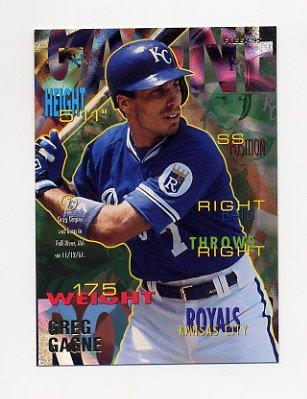 1995 Fleer Baseball #157 Greg Gagne - Kansas City Royals