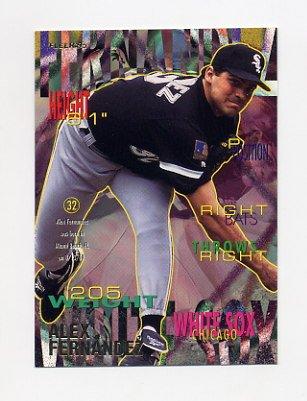 1995 Fleer Baseball #115 Alex Fernandez - Chicago White Sox