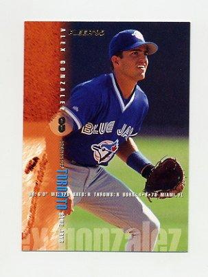 1995 Fleer Baseball #093 Alex Gonzalez - Toronto Blue Jays