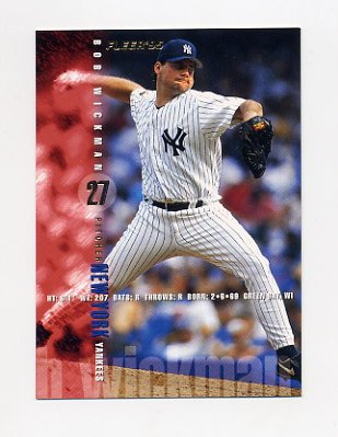 1995 Fleer Baseball #084 Bob Wickman - New York Yankees