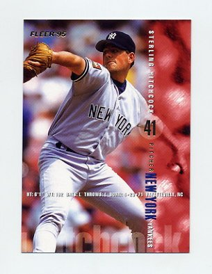 1995 Fleer Baseball #070 Sterling Hitchcock - New York Yankees