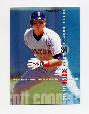 1995 Fleer Baseball #027 Scott Cooper - Boston Red Sox