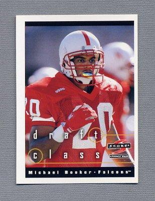 1997 Score Football #302 Michael Booker RC - Atlanta Falcons