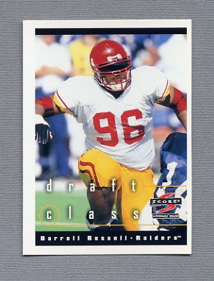 1997 Score Football #292 Darrell Russell RC - Oakland Raiders