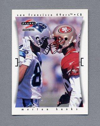 1997 Score Football #244 Merton Hanks - San Francisco 49ers