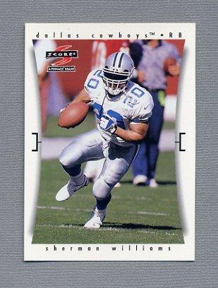 1997 Score Football #203 Sherman Williams - Dallas Cowboys