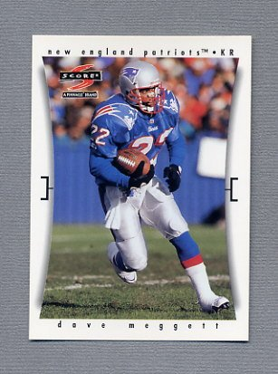1997 Score Football #197 Dave Meggett - New England Patriots
