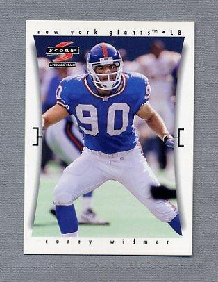 1997 Score Football #191 Corey Widmer - New York Giants