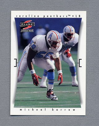1997 Score Football #190 Michael Barrow - Carolina Panthers