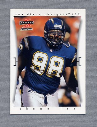 1997 Score Football #177 Shawn Lee - San Diego Chargers