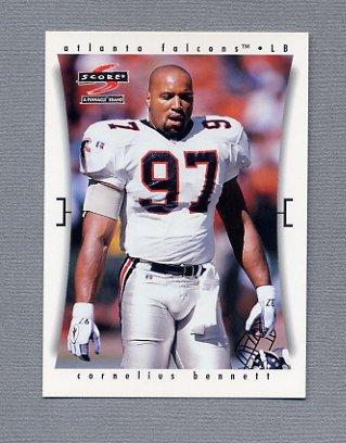 1997 Score Football #142 Cornelius Bennett - Atlanta Falcons