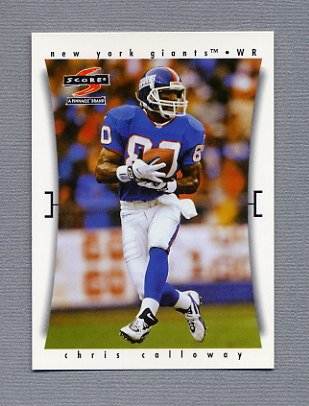 1997 Score Football #013 Chris Calloway - New York Giants