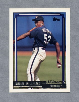 1992 Topps Baseball Gold Winners #787 Brian Williams - Houston Astros