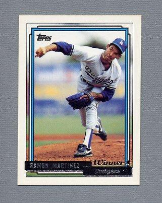 1992 Topps Baseball Gold Winners #730 Ramon Martinez - Los Angeles Dodgers NM-M